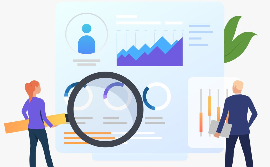 Illustration concept de Google Analytics