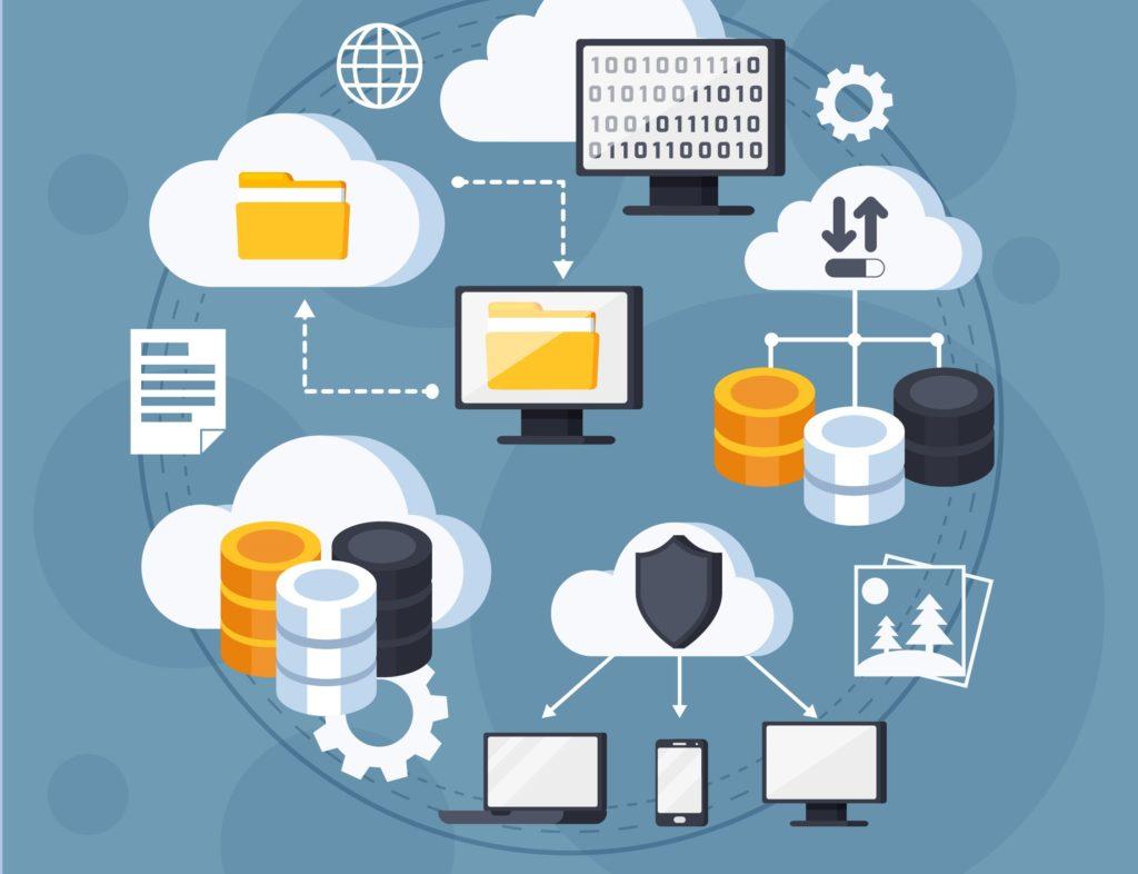 illustration de sauvegardes données numériques