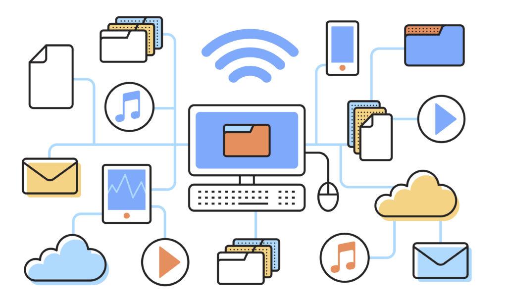 illustration de sauvegardes données numériques en entreprise