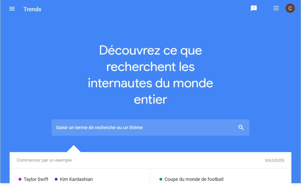 Google Trends dans le cadre du référencement