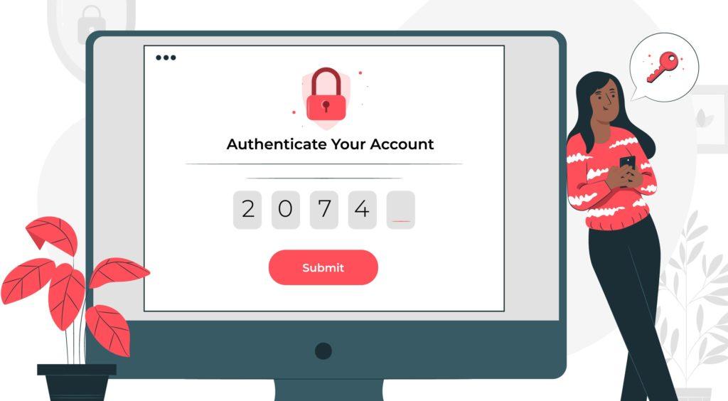 Concept de connexion avec un mot de passe sur un site internet