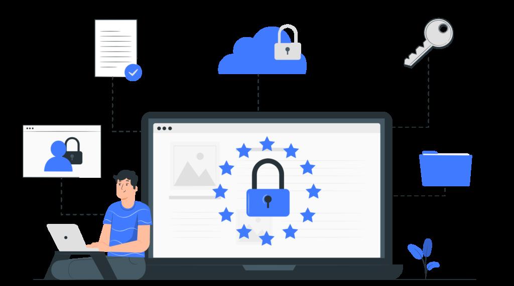 Illustration de concept sur la protection des données personnelles