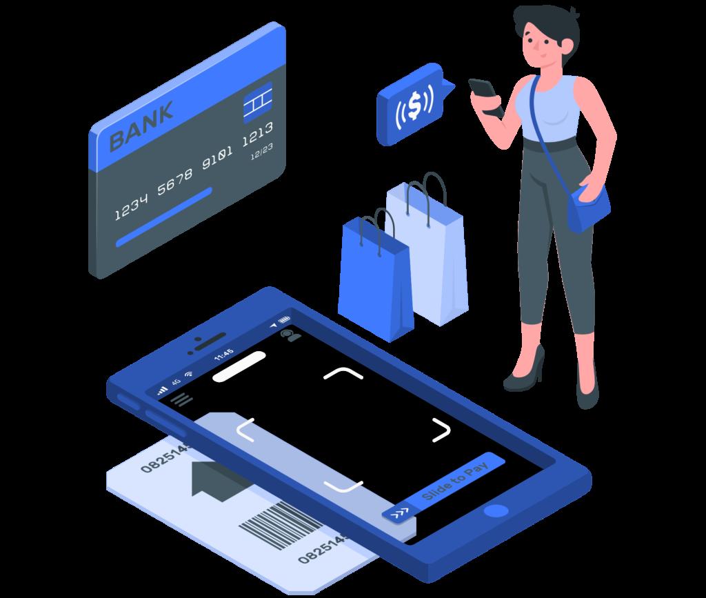 illustration paiement mobile