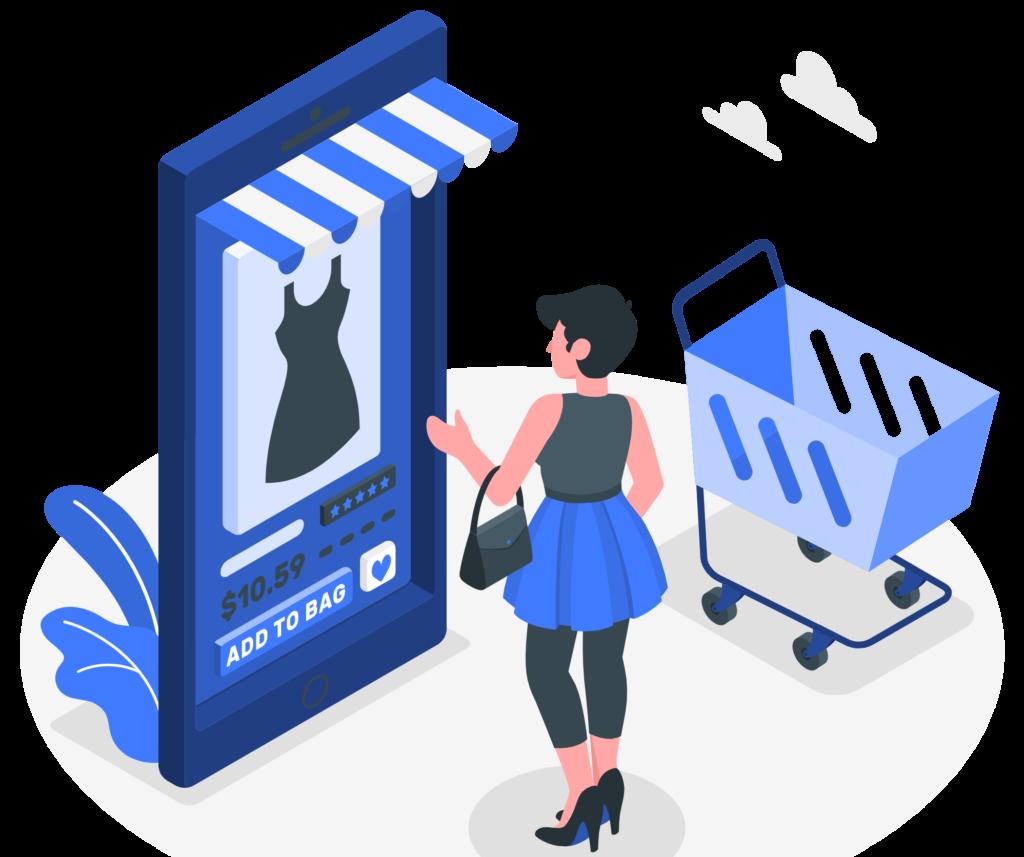 achat boutique en ligne étape du paiement