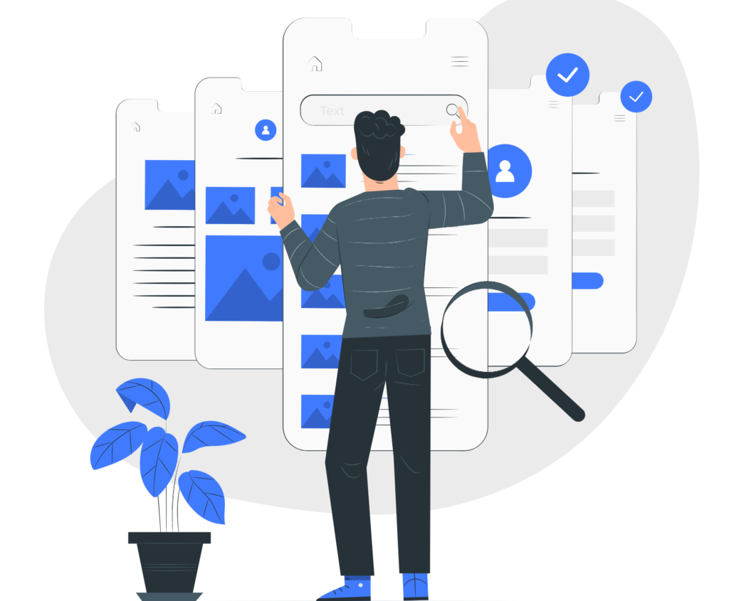 Illustration de l'expérience utilisateur via la structure de l'arborescence d'un site internet