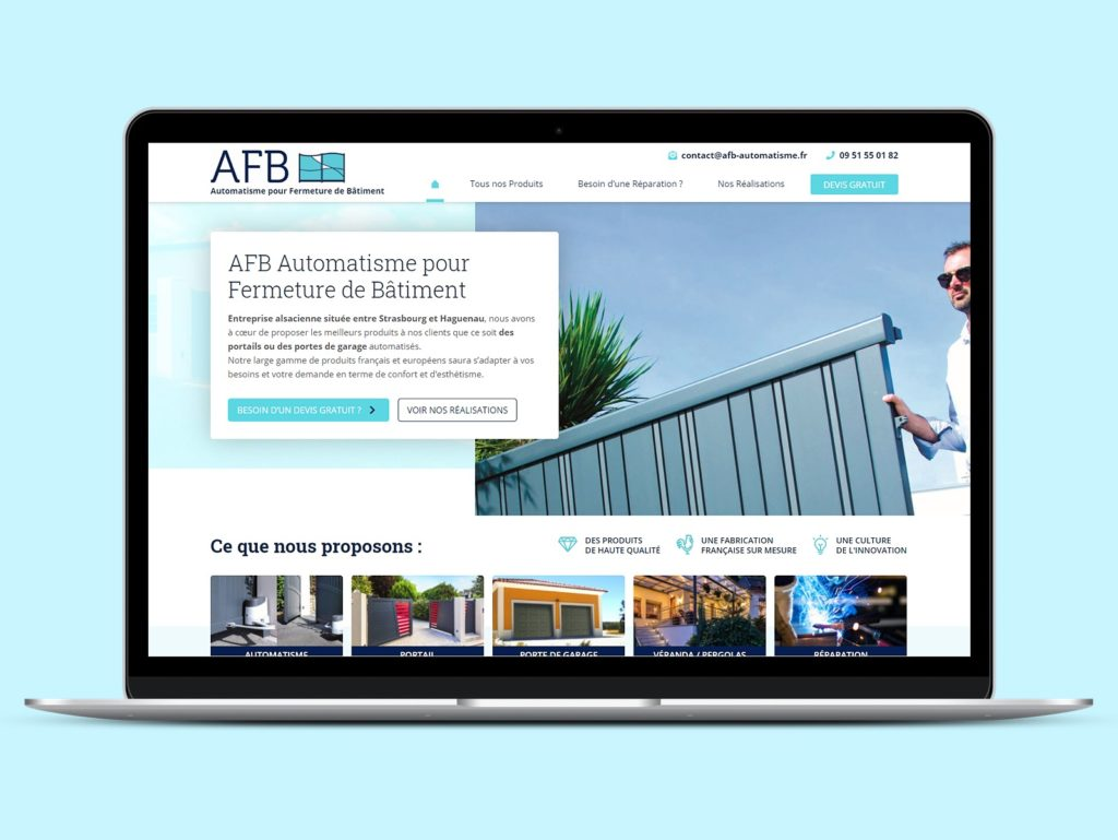 Visuel du site internet de AFB Automatisme
