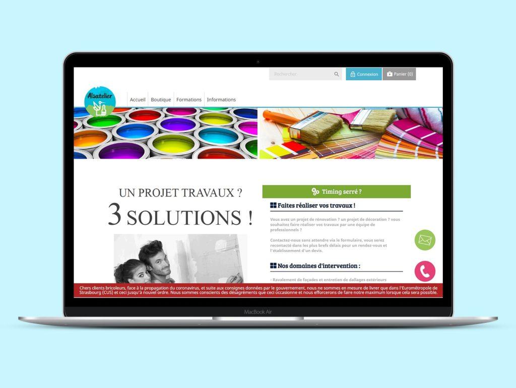 Visuel du types de site internet de la boutique en ligne d'Alsatelier