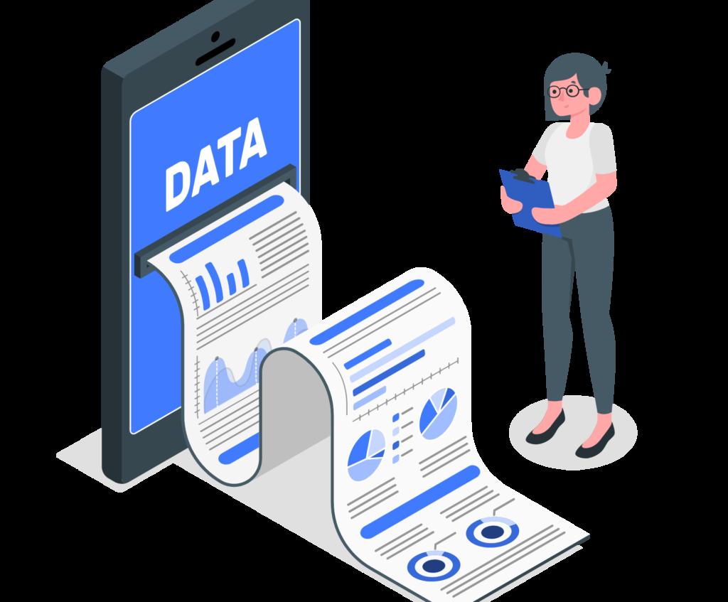 Illustration sur la récupération de données via les livres blancs