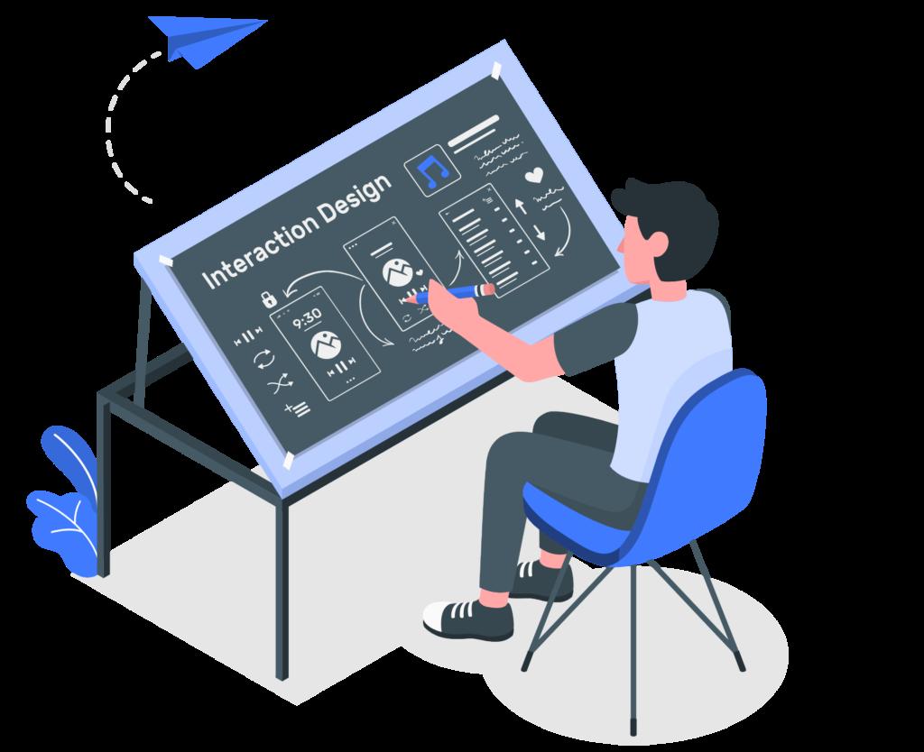 Illustration du concept de prototypage d'application dans le cadre de l'UX et UI