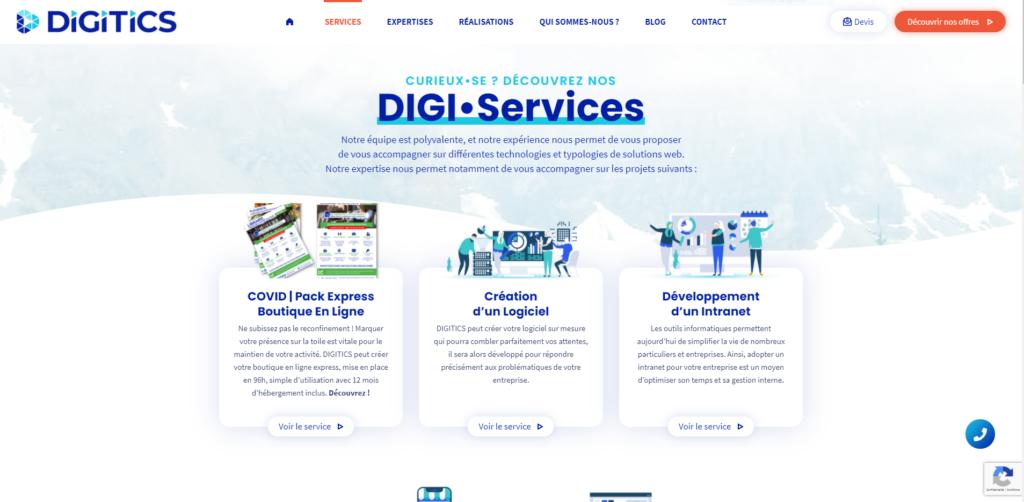 Image de la page des services de digitics.fr