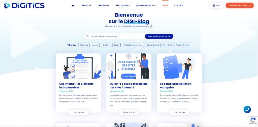 Image de la paga Blog de Digitics.fr