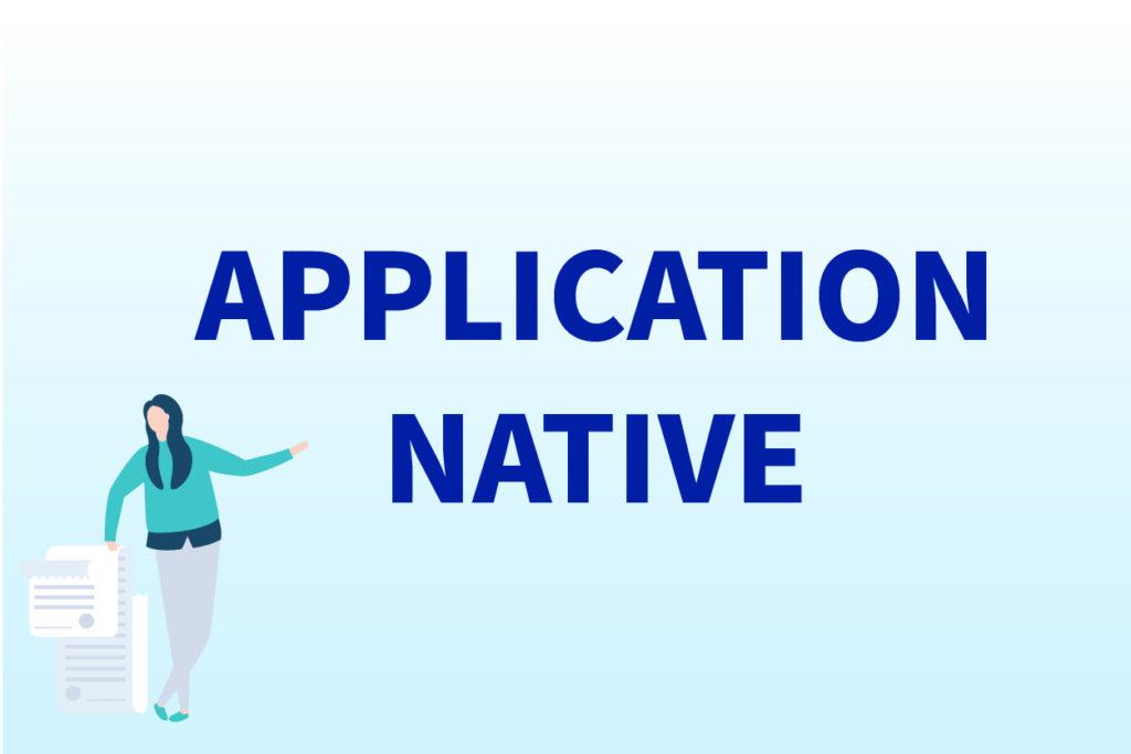 Image d'en-tête : Application Native