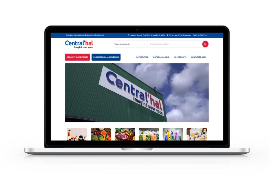 Mockup de la page d'accueil de Central'hal après la refonte de la boutique en ligne